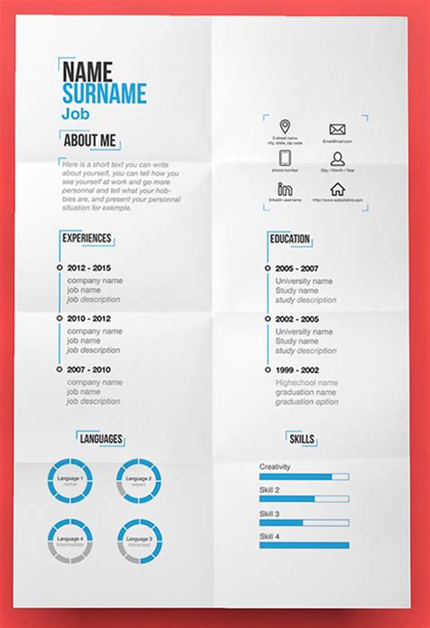best free psd resume templates 110 best free creative resume templates updated