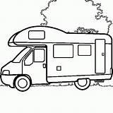 Camper Coloring Colouring Camping Campers Drawing Motorhome Rv Caravan Truck Line Colour Coulouring Trailers Van Printable Campervan Voor Afbeeldingsresultaat Rocks sketch template