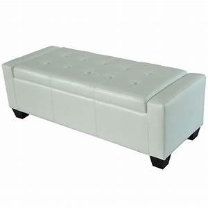 Homcom modern faux leather ottoman footrest sofa shoe for Storage ottoman seat