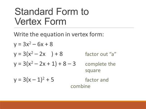 how to change a quadratic equation into vertex form tessshebaylo
