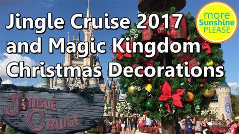 jingle cruise   magic kingdom christmas decorations