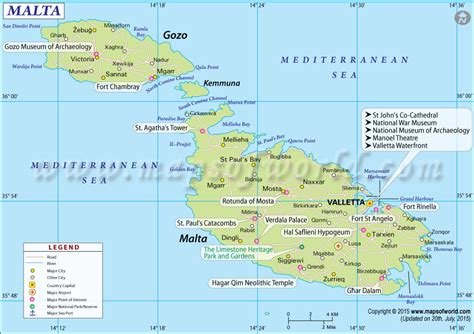 malta map map  malta
