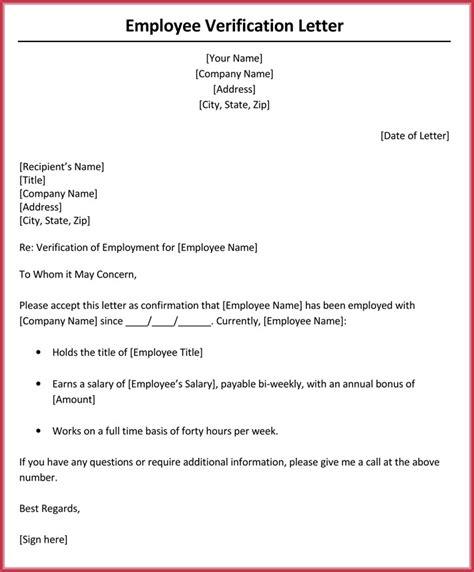 income verification letter  samples formats