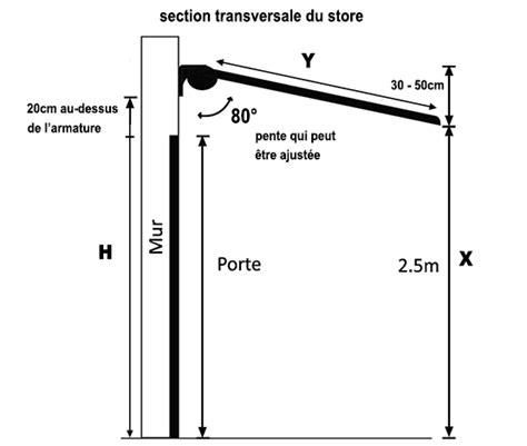 a quelle hauteur installer un store banne quel store pour balcon inch
