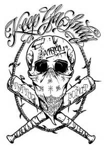 Crazy Drawing Skull Tattoo Designs