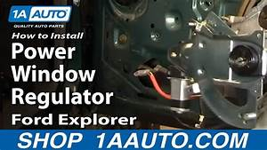 How To Replace Front Window Regulator 91