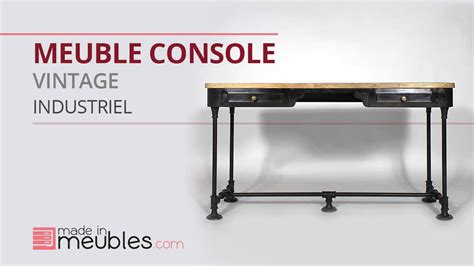 meuble console industriel vintage youtube