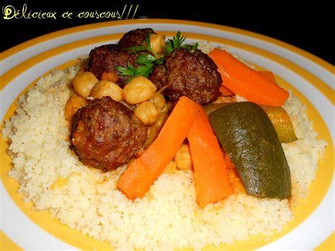 recette de cuisine couscous balls kefta tajin marocaine