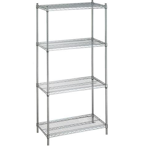 stationary adjustable metal linen rack  wire shelves