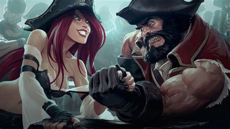 Gangplank Animated Wallpaper - miss fortune vs gangplank lol wallpaper 28671
