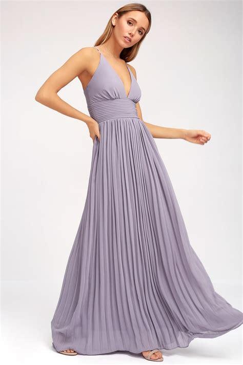 light purple sundress light purple dress pleated maxi dress dusty purple gown