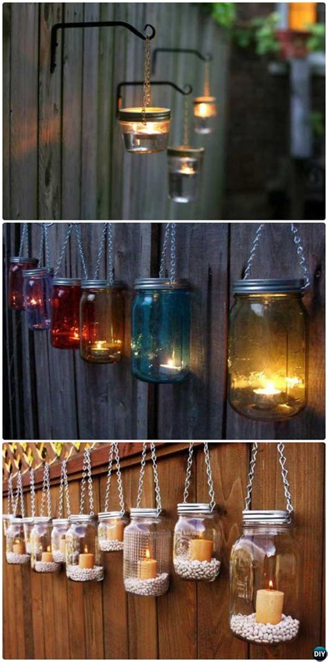outdoor diy lighting ideas   garden