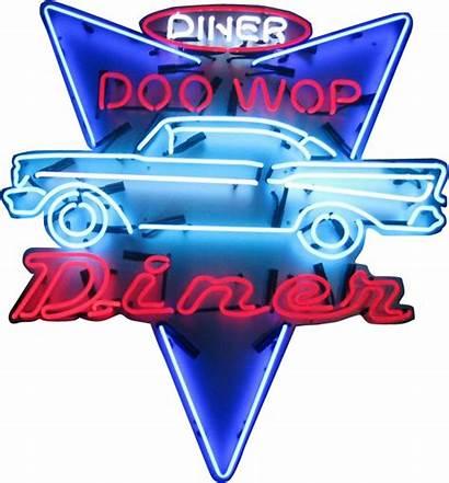 Neon Sign Diner Doo Wop Signs Nostalgia