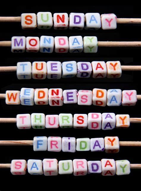 day week   origin   names
