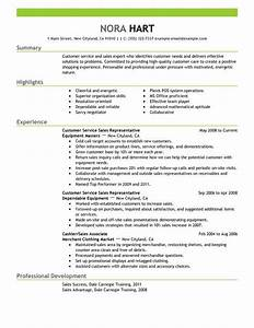 Customer service representatives sales with green header for Customer service resume summary