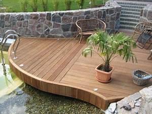 Bankirai Terrasse Bauen : terrasse am schwimmteich ausbau hausideen so wollen ~ Lizthompson.info Haus und Dekorationen