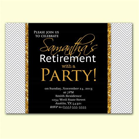 gold baby shower decorations retirement party invitation cards in