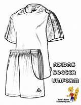 Uniform Coloring Soccer Sports Anime Pages Template Printable Print Sketch Printables Boys Pdf sketch template