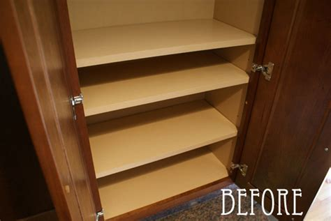shelf liners for kitchen cabinets before after shelf liner apartment therapy