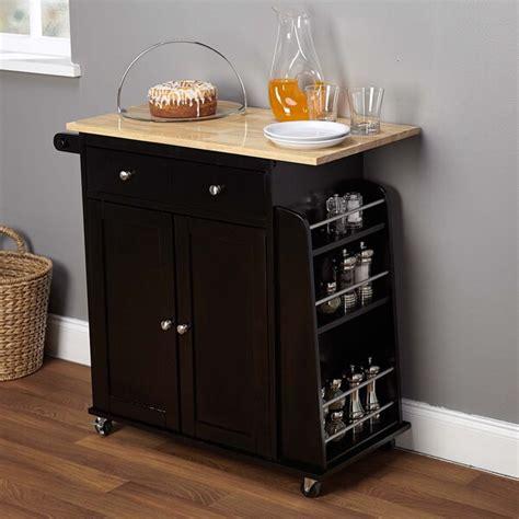 shop simple living sonoma  tone black kitchen cart