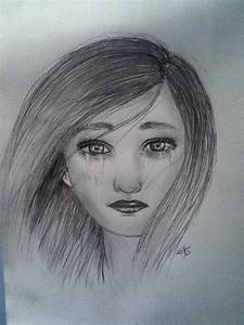 Sad little girl - Drawing by Claristelow on DeviantArt
