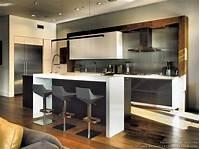 magnificent modern kitchen plan #Kitchen of the Day: Contemporary Black & White Kitchen, Stainless Steel Backsplash, Modern Bar ...