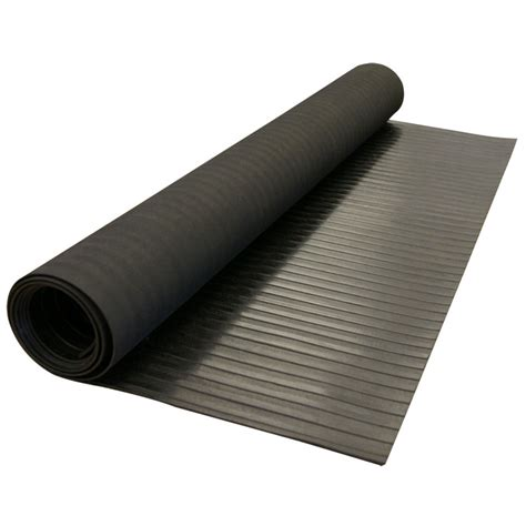 rubber mat roll quot corrugated wide rib quot rubber runner mats