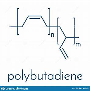 Polybutadiene Butadiene Rubber Polymer  Chemical Structure
