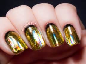 Party perfect black and gold nail art ideas chalkboard