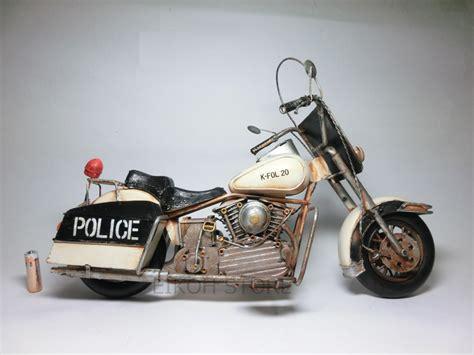 Vintage Police Bike ☆ Tin Toys Police Cars Bike
