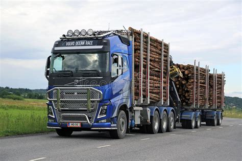 volvo fh logging truck hauls timber editorial image