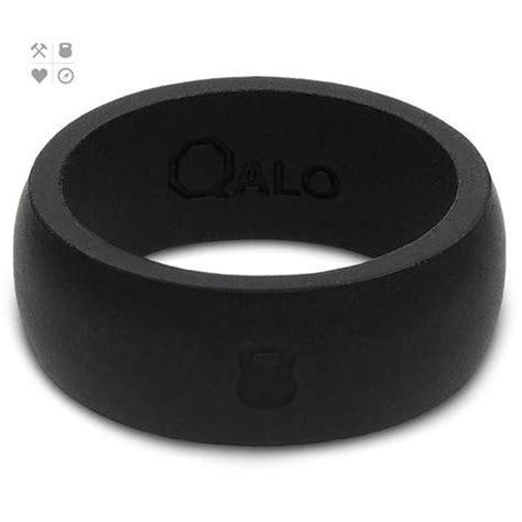 qalo slicone wedding ring classic mens black at intheholegolf com