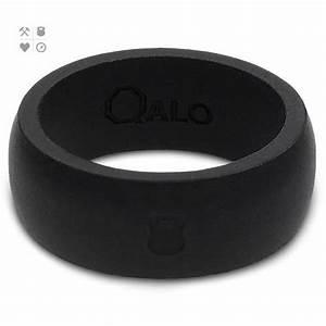 qalo slicone wedding ring classic mens black at With qalo wedding ring