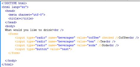 button radio html how to determine which radio button is selected learn
