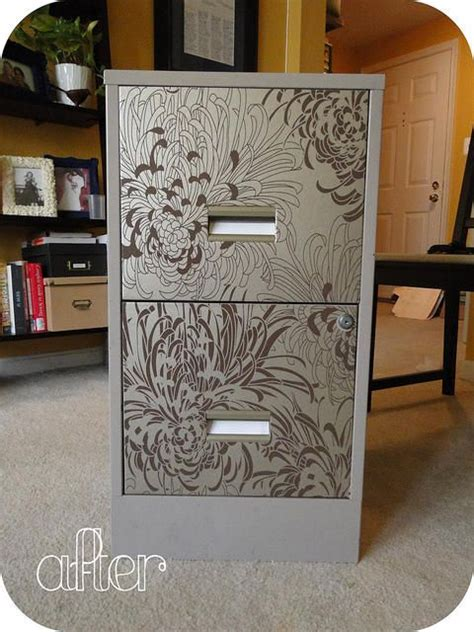 how to dress up a metal file cabinet 18 best images about filing cabinet project on pinterest