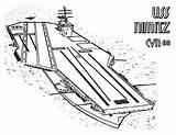 Carrier Aircraft Coloring Pages Ship Nimitz Cvn Uss Enterprise Navy Coloringsky Sketch Template sketch template