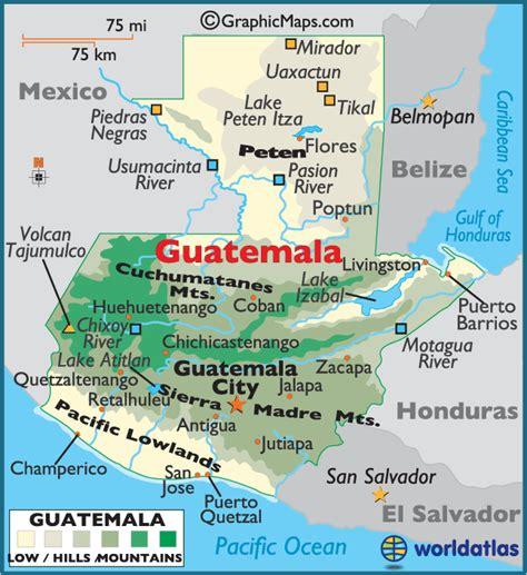 large guatemala map map  guatemala guatemala map