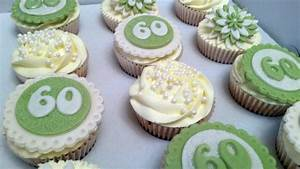60th Birthday Green Cupcakes - Bakealous
