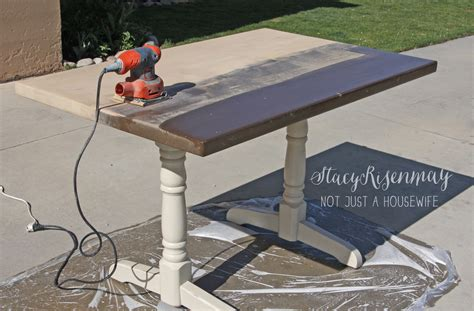 how to sand a table how to refinish a table not just a housewife