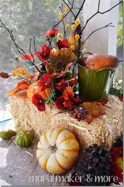 ways   hay bales  fall decor