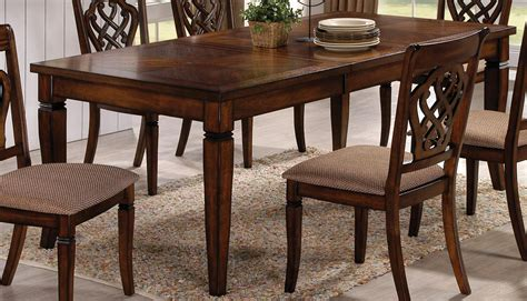 rectangular oak dining table oak rectangular dining table103391 103391 coaster