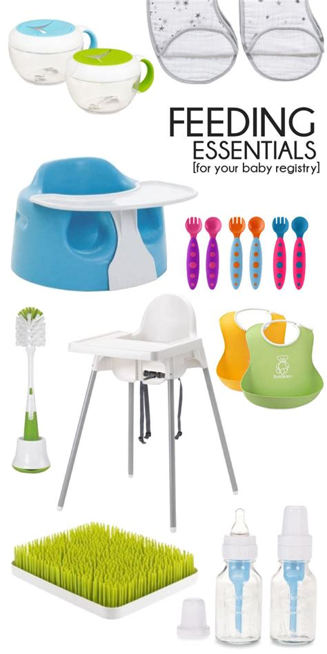 baby registry must haves essentials for feeding baby