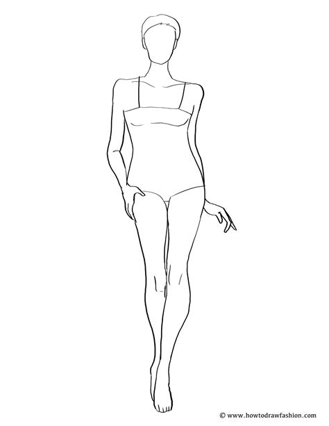 mobilemen fashion model template coloring pages