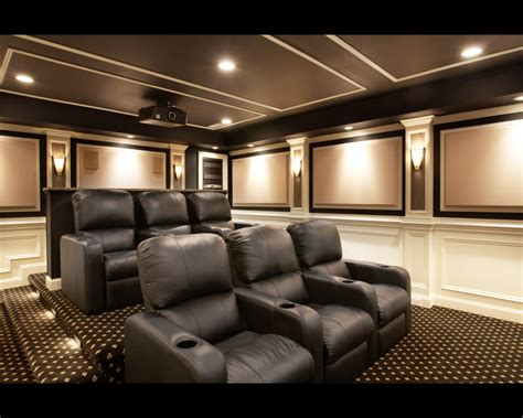 Classy Home Theater Design Completing Personal
