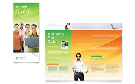 computer  services brochure template design