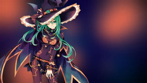 Green Anime Wallpaper - witch green hair anime anime wallpapers hd