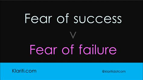 fear  success  fear  failure
