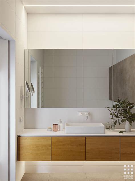 bagno bianco  legno  idee  arredo dal design moderno mondodesignit