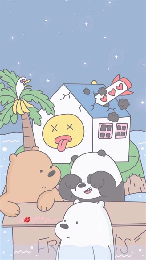 Kawaii Home Screen Wallpaper by 1200x2133 Home Screen We Bare Bears Kawaii Wallpaper