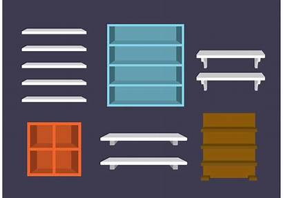 Shelves Vectors Clipart Graphics Office